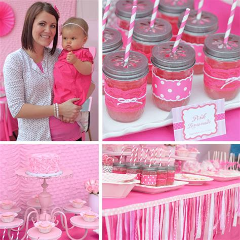 adorable pretty in pink 1st birthday party hostess with adorable pretty in pink 1st birthday party hostess with