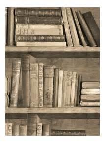 papier peint trompe l oeil biblioth 232 que sepia par mineheart