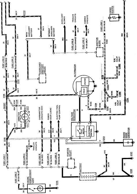 charging system wiring diagram   ford