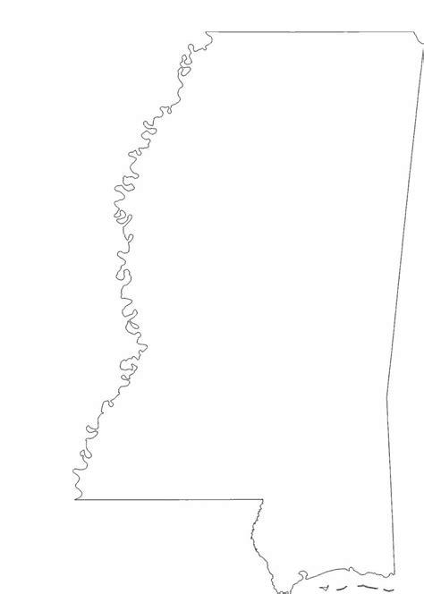 mississippi state outline map