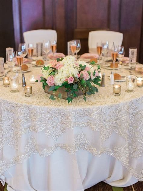 this lace table overlay is perfection blush diy wedding solomon photography