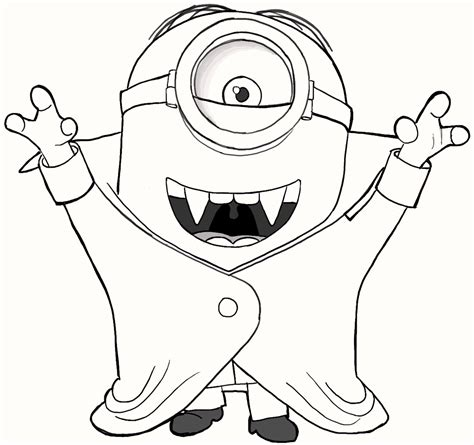 cute vampire minions coloring pages art coloring