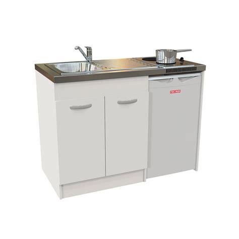 kitchenette electrique blanc h 92 5 x l 120 x p 60 cm leroy merlin