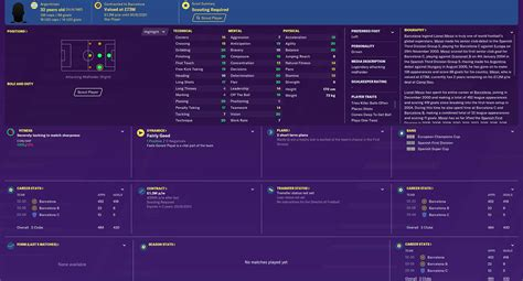 football manager  barcelona team guide   sell