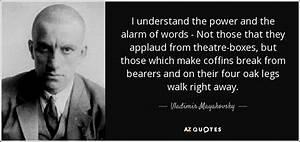 Vladimir Mayako... Power Of Theatre Quotes