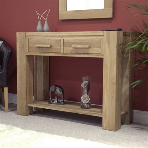 furniture for the hallway pemberton solid modern oak hallway furniture console hall table ebay