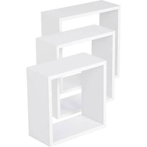 facade de cuisine pas cher etagère 3 cubes blanc 3 dimensions 30 x 30 27 x 27 24