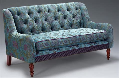 settees and benches settee in aqua by o shea upholstered