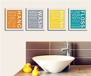 bathroom art prints bathroom rules kids bathroom wall With bathroom wall art