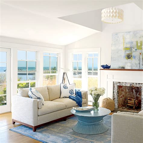 local materials  beautiful beachy living rooms