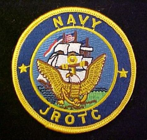 navy jrotc full color dress patch