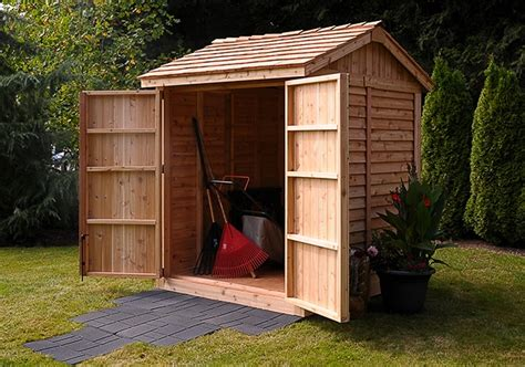 6x6 Outdoor Storage Shed by Wooden Sheds 6x6 Shed Maximizer Storage Shed Outdoor
