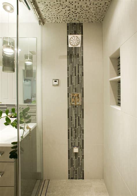 accent bathroom tile stylish vertical tile in shower design ideas