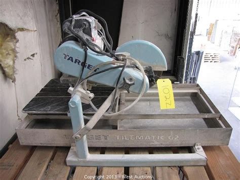 target tile saw west auctions auction pallet racking tools and