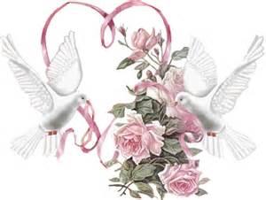 milles merci mariage image mariage colombe coeur ruban fleur pour la creation numerique au format gif le