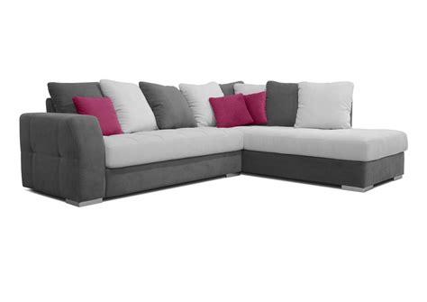 canape angle blanc et gris acheter votre canapé d 39 angle coussins jetés gris blanc et
