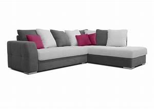 Canape Angle Rouge : acheter votre canap d 39 angle coussins jet s gris blanc et rouge chez simeuble ~ Teatrodelosmanantiales.com Idées de Décoration