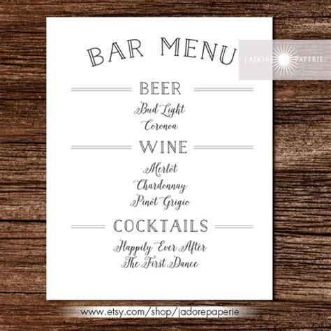 bar menu templates psd eps docs pages