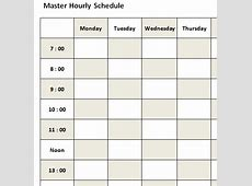 4+ daily hourly schedule Ganttchart Template