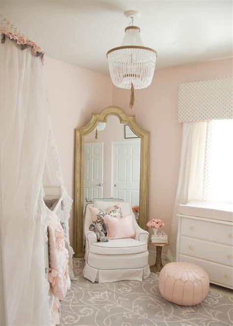 floor mirror in corner 15 soft and feminine baby girl nursery ideas delightfully noted