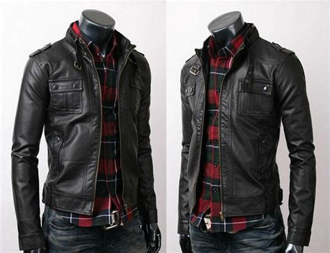 Mens Biker Vintage Belted Rider Strap Pocket Slim Fit