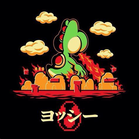 Yoshzilla Cool Tshirt For Yoshi Super Mario World And