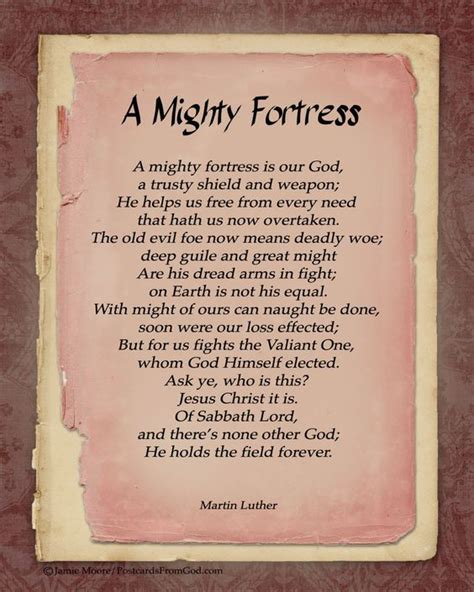 our god is a quot mighty fortress quot www