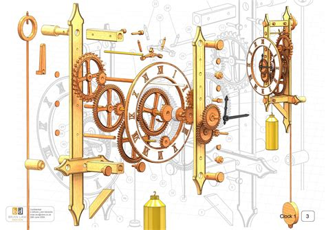 wooden clock wooden gear clock plans  dxf wooden