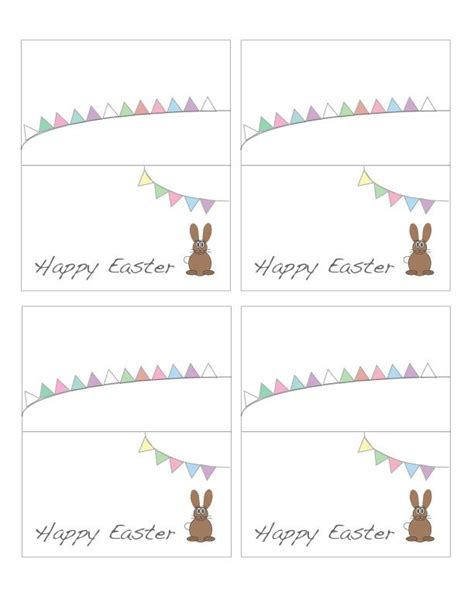 religious easter card templates free printable easter place cards place cards free