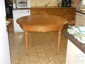 Table De Cuisine Ronde : table de cuisine ronde avec rallonge ard che ~ Teatrodelosmanantiales.com Idées de Décoration