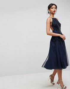ASOS | ASOS Beautiful Beaded Cami Backless Midi Dress