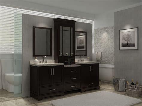 Ariel M085d-esp 85 Inch Double Sink Vanity Set With Center