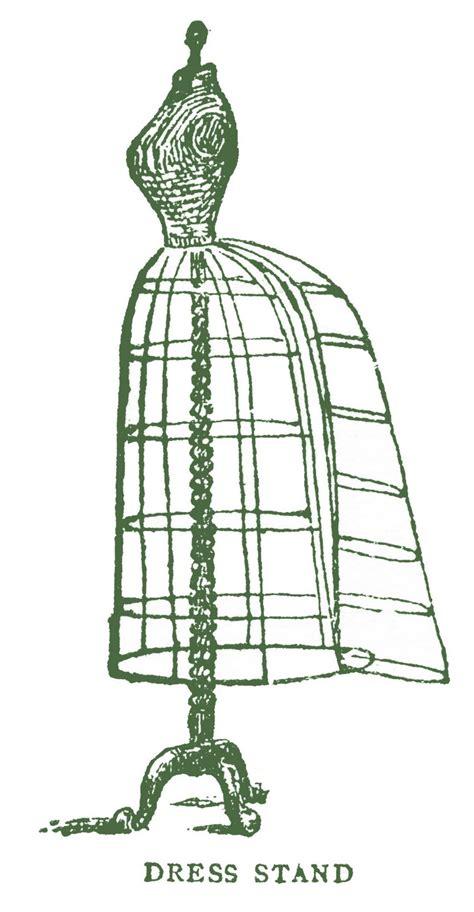 vintage images antique wire dress form  bustle