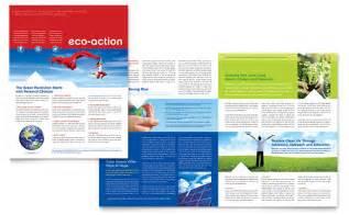 green living recycling newsletter template design