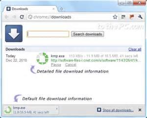 Google Chrome View Downloads