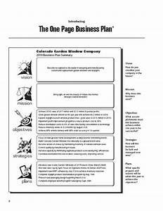 writing a business plan step by step outline business With one page sales plan template