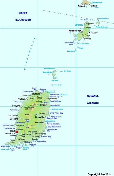 map  grenada maps worl atlas grenada map  maps