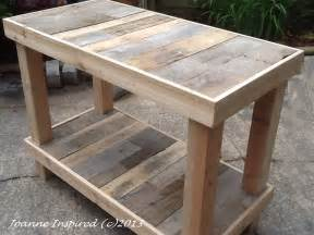 pallet project kitchen island work table joanne inspired - Pallet Kitchen Island