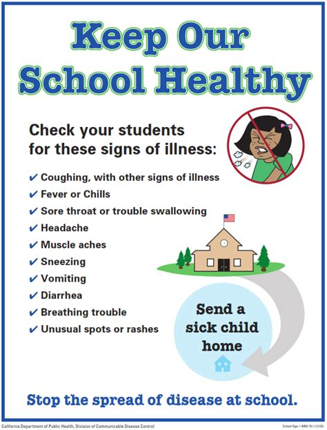 eastlake middle school flu flyer