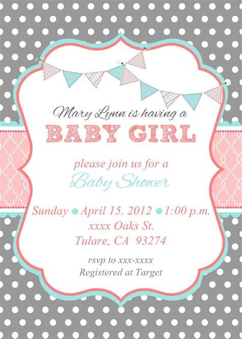 girl baby shower invitations baby shower invitation