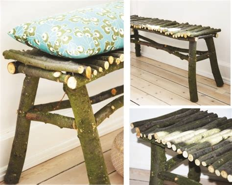 diy     twig bench  gardens