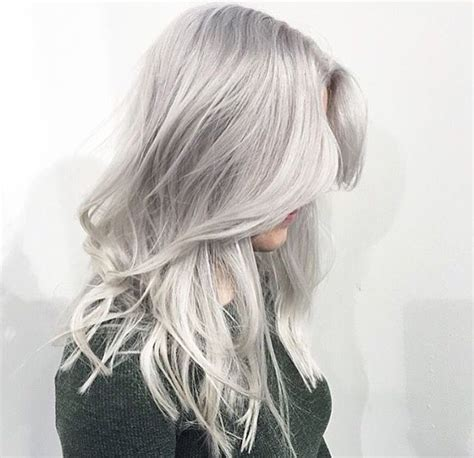 silber blond haare silver hair color by marije salon b almere