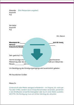 kündigungsschreiben mietvertrag vermieter k 252 ndigung mietvertrag ratgeber und kostenlose downloads