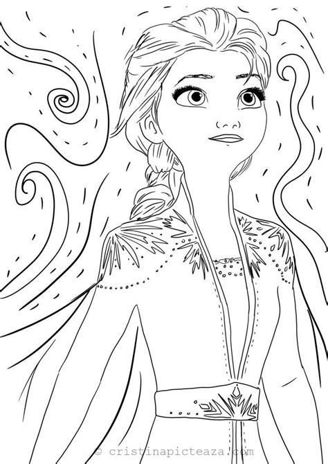 coloring pages  elsa  white dress frozen  cristina  painting