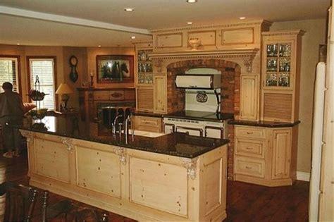 Pine Kitchen Cabinets Original Rustic Style  Kitchens