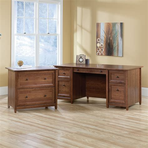 sauder edgewater collection executive desk sauder edge water executive desk with keyboard drawer and