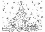 Coloring December Pages Christmas sketch template