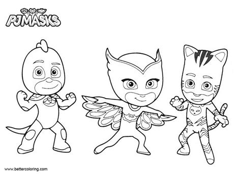 catboy coloring pages pj masks characters  printable