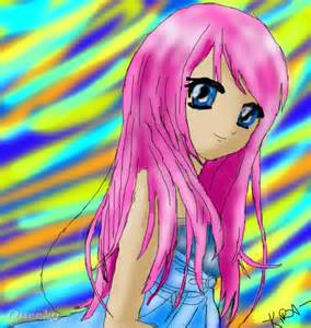 Anime Girl Drawing with Color