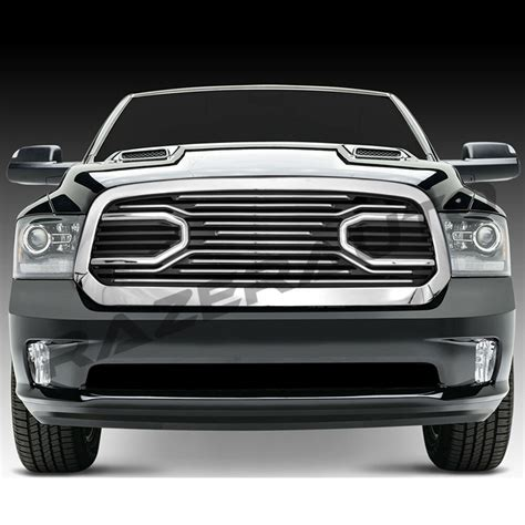 New Ram Grill by 13 17 Dodge Ram 1500 Big Horn Chrome Front Packaged Grille